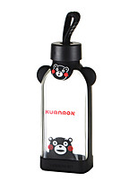 350ml Cartoon Portable GlassWater Juice Bottle