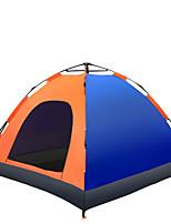 3-4 personnes Tente Unique Tente automatique Une pièce Tente de camping 1500-2000 mm Fibre de verre Oxford Taffetas en PolyesterRésistant