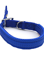 Collar Breathable Running Safety Training Solid Nylon Alloy Blue Red Black