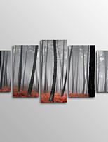 Холст для печати Пейзаж Modern,5 панелей Холст Горизонтальная Печать Искусство Декор стены For Украшение дома