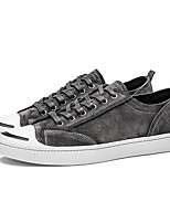Men's Sneakers Spring Fall Comfort PU Casual Lace-up Gray Black Walking