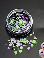 1Bottle Fashion Mixed Color Nail Art DIY Beauty Glitter Round Paillette Nail Art Round Slice Decoration P24