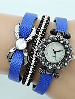 Women's Fashion Watch Bracelet Watch Quartz Leather Band Casual