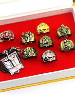 9PCS Inspired by Cosplay Chyouun Shiryuu  Anime Glory Of The King Ring Golden Alloy I.D 19MM
