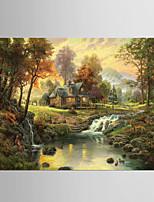 Estampados de Arte Famoso Moderno Pastoril,1 Painel Tela Horizontal Impressão artística Decoração de Parede For Decoração para casa