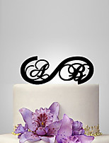 Personalized Acrylic Bride And Groom Initial Wedding Cake Topper