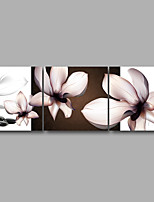 Stretched Canvas Print Three Panels Canvas Wall Decor Home Decoration Abstract Modern Puprle Brown