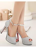 Women's Heels Spring Comfort PU Rubber Casual