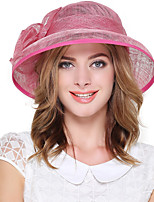 Women's Linen Bucket Hat,Vintage Cute Party Work Casual Solid Spring Summer Fall Winter