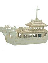 Пазлы 3D пазлы Строительные блоки Игрушки своими руками Корабль Дерево Модели и конструкторы