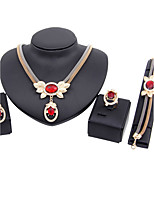 Jewelry Set Bridal Jewelry Sets Euramerican Fashion Vintage Statement Jewelry Adorable Classic Rhinestone Zinc Alloy Crown Gold1 Necklace