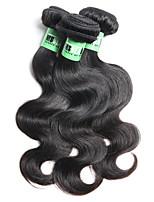 Tissages de cheveux humains Cheveux Péruviens Ondulation naturelle 18 Mois 3 Pièces tissages de cheveux