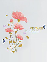 Caricatura Romance Florales Pegatinas de pared Calcomanías de Aviones para Pared Calcomanías Decorativas de Pared,Vinilo Material