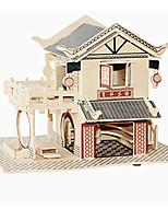 Puzzles Puzzles 3D Blocs de Construction Jouets DIY  Bâtiment Célèbre Architecture Chinoise Bois Loisirs