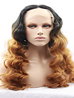 Beauty Town Hand Tied Platinum color High Temperature Fiber Hair Long Wavy Heat Resistant Glueless Synthetic Lace Front wigs