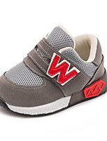 Boys' Athletic Shoes Spring Fall First Walkers Tulle Casual Flat Heel Blue Red Gray