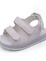 Girls' Baby Sandals Comfort PU Summer Outdoor Comfort Flat Heel White Yellow Flat