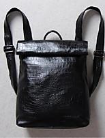 Unisex Backpack Cowhide All Seasons Casual Black