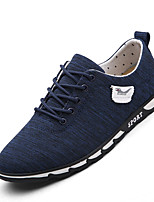 Men's Sneakers Light Soles Rubber Casual Gray Dark Blue