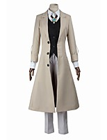 Inspired by Bungo Stray Dogs Cosplay Anime Cosplay Costumes Cosplay Suits Cosplay Tops/Bottoms Fashion Long Sleeve Coat Vest Top Pants For