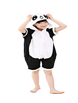 Kigurumi Pajamas Panda Leotard/Onesie Festival/Holiday Animal Sleepwear Halloween Black Color Block Cotton Cosplay Costumes ForUnisex  Kid