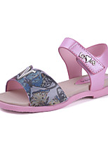 Girls' Sandals Spring Summer Fall Comfort PU Casual Flat Heel Blushing Pink Blue Purple