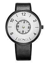 Men's Fashion Watch Quartz Leather PU Band Black