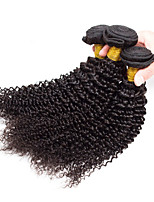Natural Color Hair Weaves Peruvian Texture Kinky Curly 12 Months 3 Pieces hair weaves