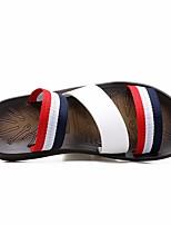 Masculino-Chinelos e flip-flops-Chanel-Salto Grosso--Couro Ecológico-Casual