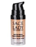 Matte Finish Liquid Foundation Cream Medium Coverage Long Lasting Waterproof Natural