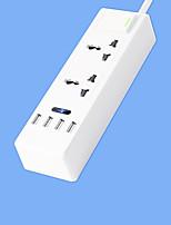 Super Speed Power Strip avec cordon 2 pieds intelligent 4 usb adaptateur secteur 220v 10a us plug