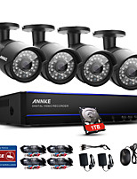 ANNKE® 4CH 4PCS 1080P Video Camera Waterproof Surveillance Security System IR Night Vision Intelligent Timetable Playback 1TB