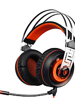 sades A7 7.1 surround sound stereo gaming headset med USB LED mikrofon og vibrationer hovedtelefon til pc