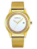 Женские Модные часы Кварцевый Календарь Защита от влаги сплав Группа Повседневная Серебристый металл Золотистый Розовое золото