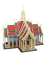Puzzles 3D - Puzzle Bausteine Spielzeug zum Selbermachen Berühmte Gebäude Holz Model & Building Toy