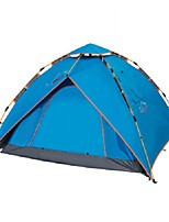 3-4 persons Tent Double One Room Camping TentCamping Traveling-Blue