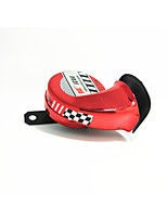 Motorcycle Red Universal Snail Horn Overshoot Waterproof 12V Pedal Genius Fantasy 125 Modified Speaker