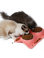 Cat Dog Bowls & Water Bottles Feeders Pet Bowls & Feeding Waterproof Portable Blushing Pink Blue Green