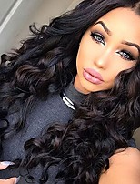 Natural Black Color Body Wave Lace Wig Brazilian Virgin Hair Glueless Lace Front Wig with Baby Hair