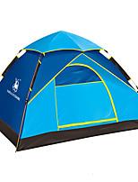 3-4 personnes Tente Unique Tente automatique Une pièce Tente de camping Fibre de verreEtanche Résistant aux ultraviolets Résistant au