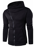 4 colors  M-3XL Hot SaleMen's Casual/Daily Hoodie Solid Hooded Micro-elastic Cotton Long Sleeve Spring Fall