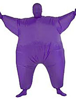 Costume Inflatable Full Body Suit Inflatable Costume Teen Chub Suit Full Body Jumpsuit Costume Purple Color Masked Man Adult Large