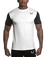 Running T-shirt Short Sleeve Breathable / Quick Dry Polyester Cycling/Bike Sports Wear Stretchy Loose Outdoor clothing / Activewear Solid
