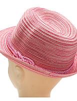 Femme Rétro Mignon Soirée Travail Décontracté Paillette Chapeau de Paille Chapeau de soleil,Couleur PleinePrintemps Eté Automne Toutes