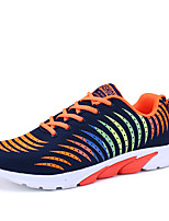 Men's Sneakers Spring Summer Mary Jane Comfort Tulle Outdoor Athletic Casual Running Lace-up Gray Orange