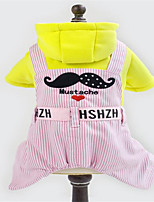 Dog Clothes/Jumpsuit Dog Clothes Cute Stripe Blue Blushing Pink