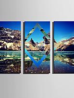 Пейзаж Modern Европейский стиль,3 панели Холст Вертикальная Печать Искусство Декор стены For Украшение дома