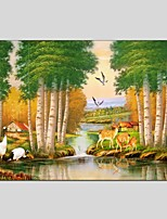 Oil Paintings Modern Landscape Style Canvas Material With Wooden Stretcher Ready To Hang Size60*90CM and 50*70CM .