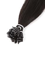 Neitsi alta qualidade 28 '' 25g / lot 1g / s eu inclino o cabelo humano remy reto das extensões 100% do cabelo 1b #