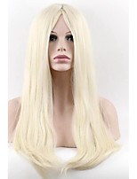 Light Glonde Women Long Straight Wig Heat Resistant Synthetic Hair Cosplay Wigs